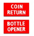 DP3W  Bottle Opener/Coin Return