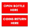 DP5W  Bottle Opener/Coin Return